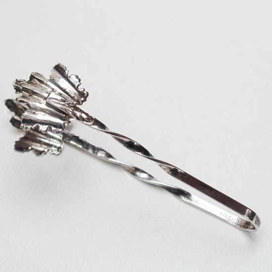 Sterling Silver Sugar Tongs - Twist Handle - Ornate Leaf