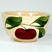 Watt Pottery Apple Pattern - Tiny Ribbed Mixing Bowl #04 - 1950s
