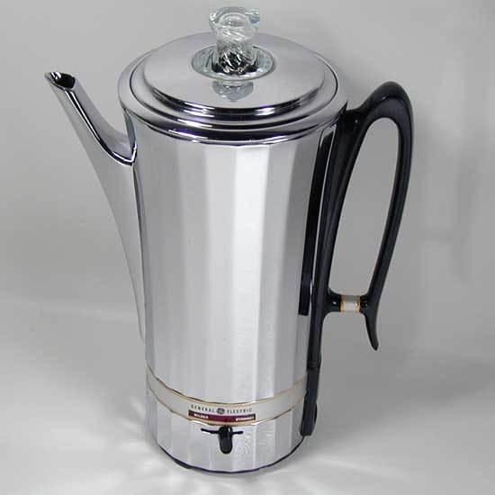 Vintage General Electric 10 Cup Percolator No. 25P50