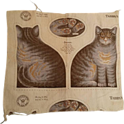 Antique Arnold Print Works Tabby Cat Kitten Pattern UNCUT Ca. 1892 Excellent