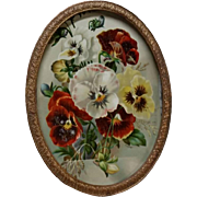 Antique Gilt Metal Oval Photograph Picture Frame - 19th Century