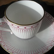 Vintage English Bone China Cup and Saucer Circa 1884
