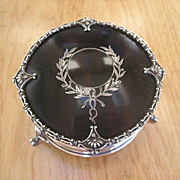 Antique Sterling Silver and Tortoiseshell Inlaid Silver Pique Trinket Casket Box ~ English Edwardian Period