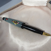 Vintage Fabulous Celluloid Fountain Pen / Figural Japanese Geisha Girl Umbrella ~ Art Deco Period