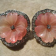 Wonderful Vintage Kenneth Lane KJL Lucite and Rhinestone Earrings