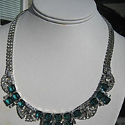 Shop Special! Vintage Boucher Rhinestone Necklace ~ Runway Piece