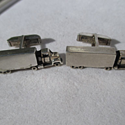Vintage Sterling Silver Big Rig Truck Cufflinks ~ Fenwicks & Sailors