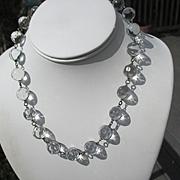 Rarest Polka Dots Pools of Light Quartz Crystal Necklace ~ Art Deco Period