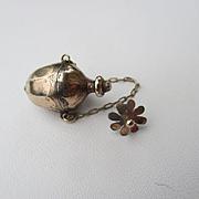 Shop Special! Antique Miniature Child's 15K Gold Perfume Vinaigrette Pendant / Chatelaine ~ Georgian Period
