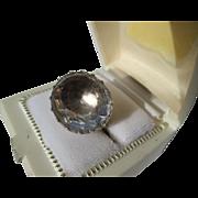 Spectacular 22 Carat Natural Quartz Crystal Georgian Ring