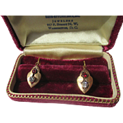 Shop special! Antique Victorian Paste Earrings in 18K Gold
