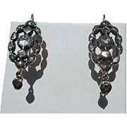 Antique Georgian Diamond Earrings Silver / Gold /