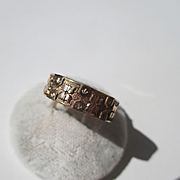 Beautiful Antique Rose Gold Victorian Wedding Band / Ring
