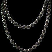 Fantastic Antique Natural Garnet link Chain / Victorian