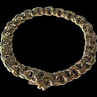 Vintage Tiffany & Co 14k Gold Double Link Charm Bracelet