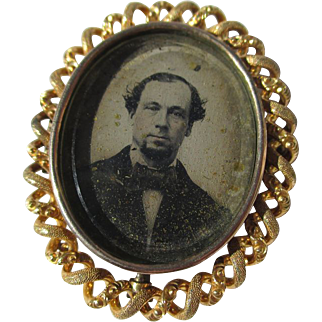Shop Special! Antique 20K Gold Victorian Swivel Mourning Brooch
