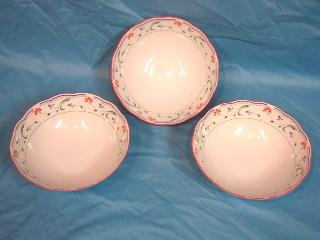 Art Deco Heirloom Bone China Chinese Serving Bowls 3