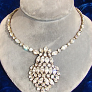 Kramer White Rhinestone Necklace