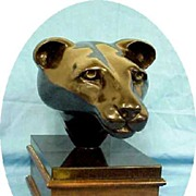 Sculpture Liver Bronze Sculpture Animal Cougar Original Artist Estate  PS Lynch Vintage