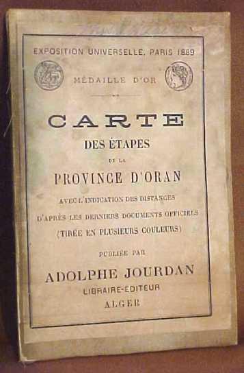 1889 Paris Exposition Folding Carte Map A. Jourdan Lithography Scarce Map