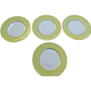 Gumps San Francisco Lenox Porcelain Dinner Plates Set 8 Rutherford Circle Yellow Early 20th Century Mark