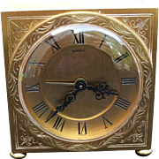 Qilt Bronze Shreve Table Travel Clock CH Hour France Movement Antique