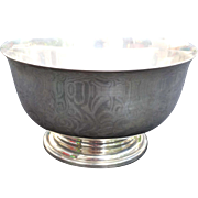 "Cartier Sterling Silver 6"" bowl Paul Revere Reproduction Vintage"