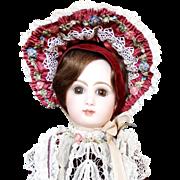 """Antique 20"""" Tete Jumeau Bebe Doll Medailles d'or Paris Bte SGDC Museum Exhibited"""