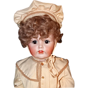 "Museum Exhibited Kestner JDK 257 Toddler  Boy Doll Circa 1910 Large 35"" Antique Bisque Head Composition Body Scarce"