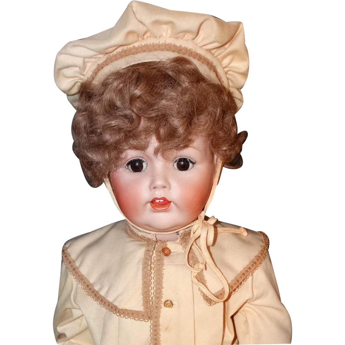 """Museum Exhibited Kestner JDK 257 Toddler  Boy Doll Circa 1910 Large 35"""" Antique Bisque Head Composition Body Scarce"""