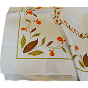 Hall China Jewel Tea Autumn Leaf Tablecloth Jewel T Unused  Scarce
