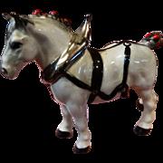 Cabinet Miniature Porcelain Clydesdale Horse Figurine Vintage