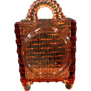 Victorian Novelty Wall Mount EAPG Match Holder Amber glass Bryce Bros.