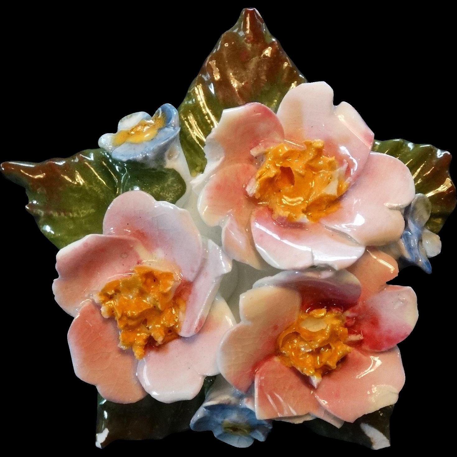 Aynsley Porcelain Bone China Rose Brooch Pin Vintage