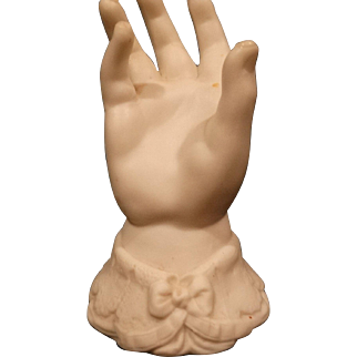 Parian Bisque Baby Hand Ring Holder 19th Century Antique