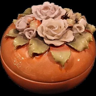 Antique Lusterware Trinket Vanity Jar Pre Elfinware type German
