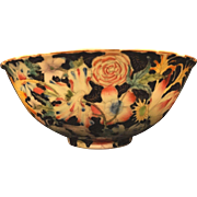 Chinese Chintz Deep Bowl Vintage Enameled