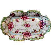 Antique Vanity Trinket Petite Dish Handpainted German 19th Century
