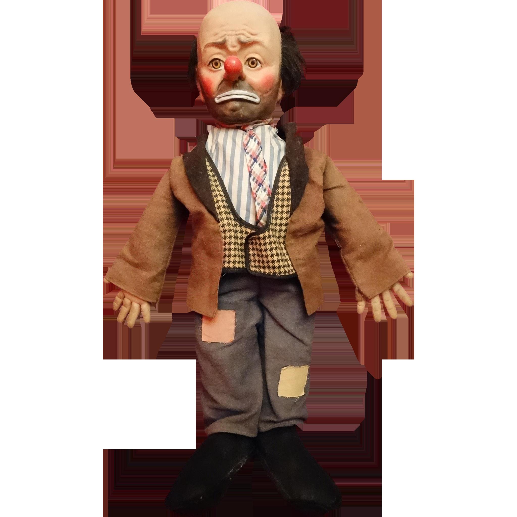 Emmett Kelly Willy the Clown Doll Vintage Mid Century