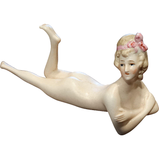 Naughty Nudie Nude Bathing Beauty Doll Antique Germany Bavaria