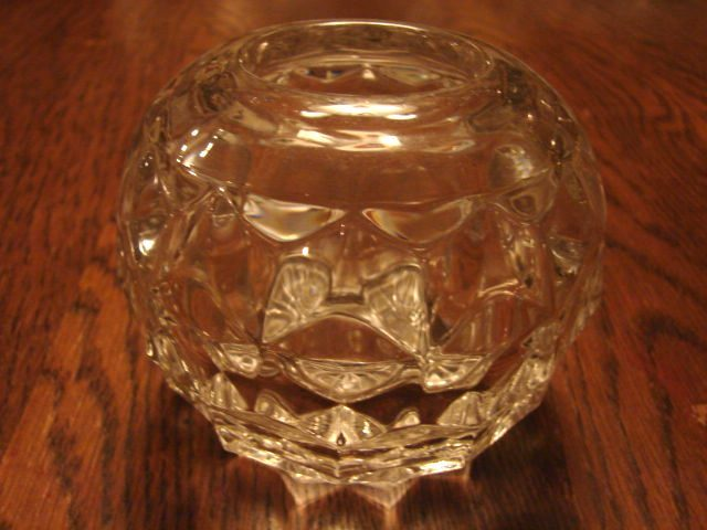 "Fostoria Glass American 3 ½"" Rose Bowl"