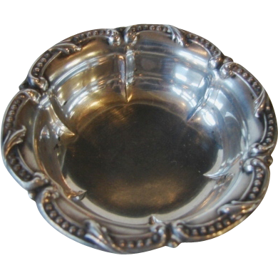 Sterling Silver Serving Bowl Cabinet Miniature Large Doll House Salt Dish Size Heirloom