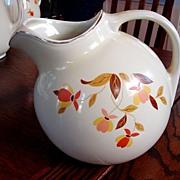 Hall China Jewel Tea Autumn Leaf  Ball Jug Pitcher Fine - Red Tag Sale Item