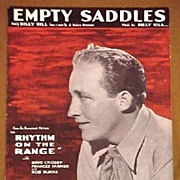 1936 Movie Sheet Music Bing Crosby EMPTY SADDLES