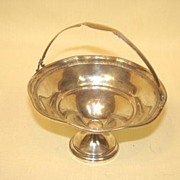 Elgin Sterling Silver Hollowware Basket Footed Heirloom E-Mid 20th Century