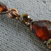 Vintage Cola and Champagne Colored Pierced  Dangle Earrings