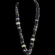 Beaded  Apple Jade Necklace