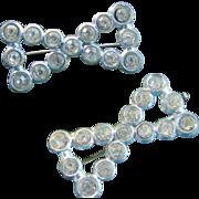 Circa 1900 Paste Bow Tie Pins