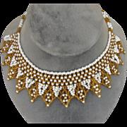 Lovely Vintage Beaded Collar Choker