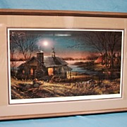 Terry Redlin Artist Proof Pure Contentment 1989 Closed Sold Out Limited Edition Print Custom Framed & Matted Duck Geese Hunter Dog Decoys Evening Scene